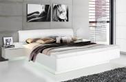 Postel Starlet Plus - 180x200, noční stolky (bílá lesk)