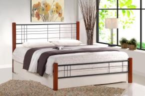 Postel Vera - 160x200, rám postele, rošt (antická třešeň, černá)