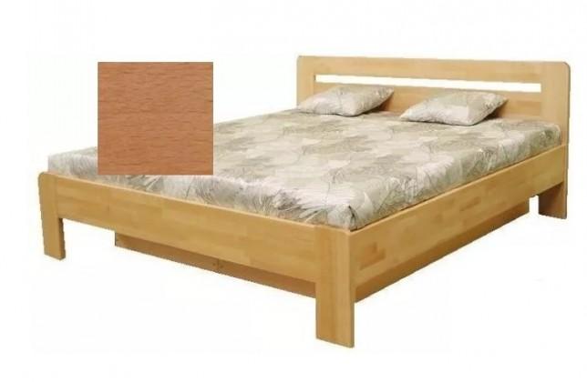 Postele z masivu Dřevěná postel Kars 2, 180x200, olše, vč.roštu a úp, bez matrace
