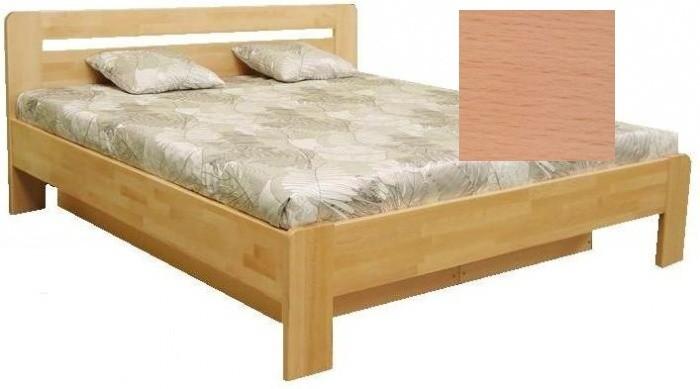 Postele z masivu Dřevěná postel Kars 2, 180x200, vč. výkl.roštu a úp, bez matrace