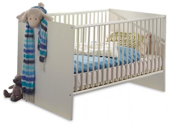 Postýlky a příslušenství Bibi - Dětská postýlka (alpská bílá, modrá)