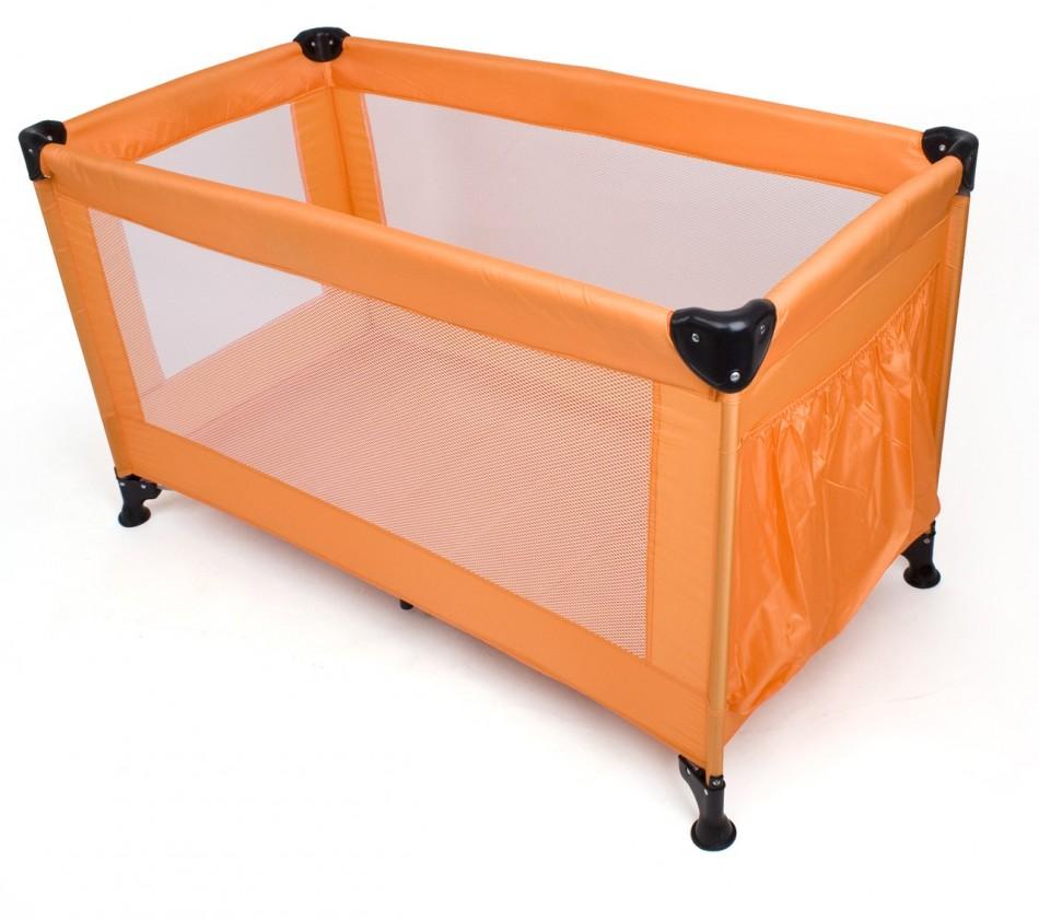 Postýlky a příslušenství Calme - Cestovní postýlka, 120x60x73 cm, skládací (oranžová)