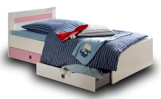 Postýlky a příslušenství Cinderella - Úložný box k dětské postýlce (bílá, růžová)