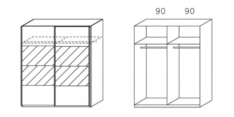 Posuvná Apulien - s posuvnými dveřmi, 2x dveře