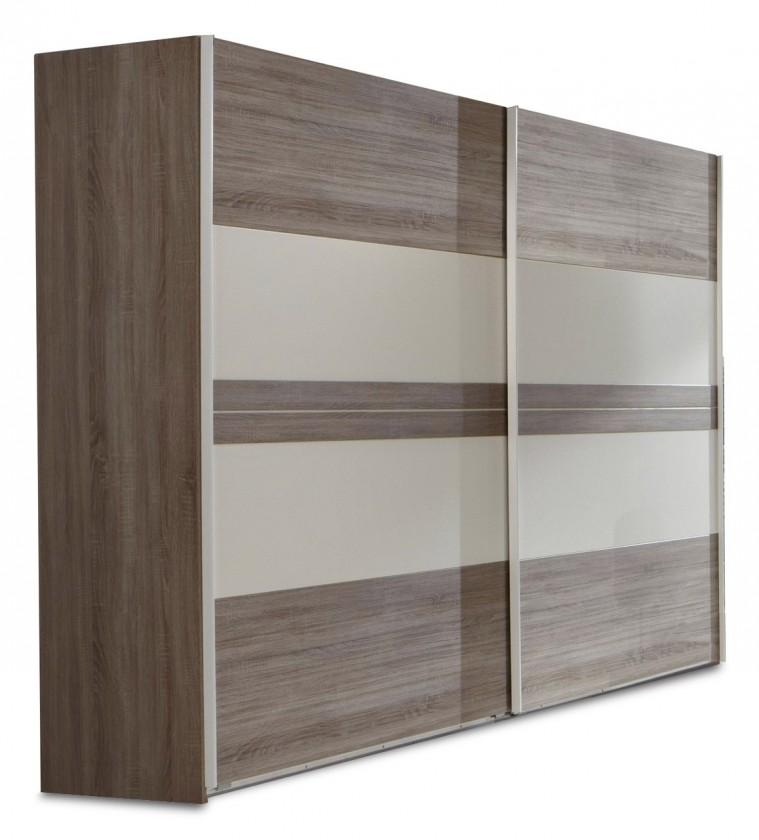 Posuvná Corfu - Šatní skříň 2, 2x dveře (dub montana, alpská bílá)