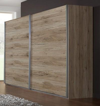 Posuvná Madrid - Šatní skříň 2, 2x posuvné dveře (dub san remo)