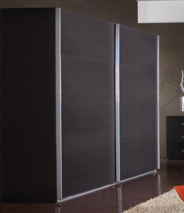 Posuvná Madrid - Šatní skříň 3, 2x posuvné dveře (lava černá)