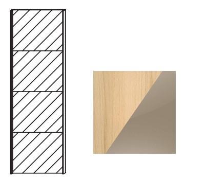 Posuvná Quadra-Dveře posuv ke skříni 48K1 (Buk natur/sklo světle hnědé)