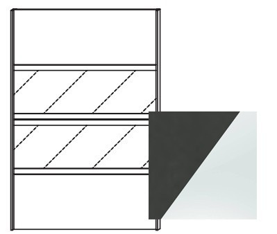 Posuvná Quadra - dveře posuvné k šatní skříni 48K7, 48K8