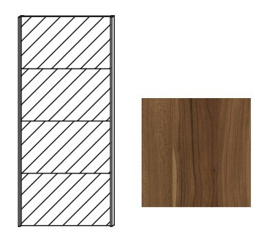 Posuvná Quadra - dveře posuvné se zrcadlem k šatní skříni 48K2, 48K8