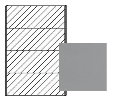Posuvná Quadra - dveře posuvné se zrcadlem k šatní skříni 48K7, 48K8