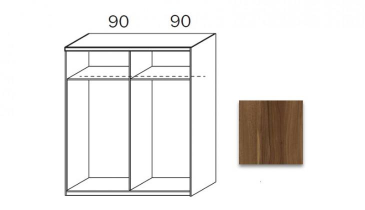 Posuvná quadra - korpus šatní skříně 48K2
