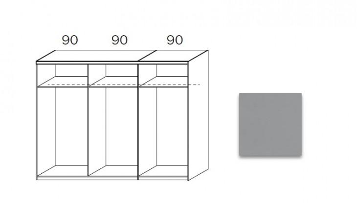 Posuvná quadra - korpus šatní skříně 48K7