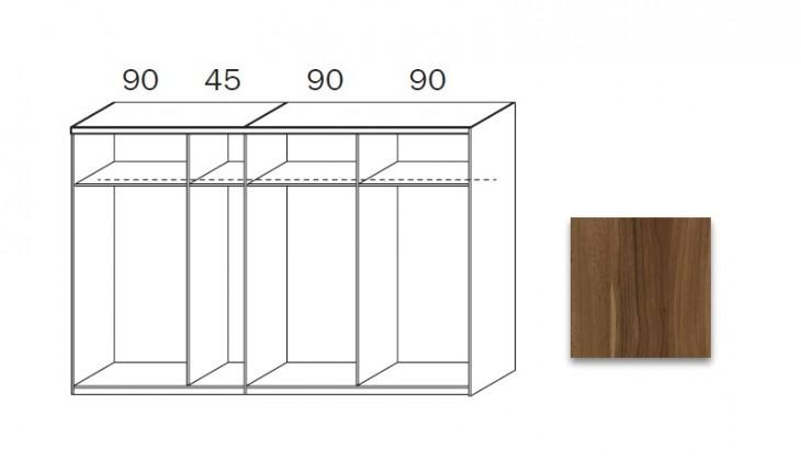 Posuvná quadra - korpus šatní skříně 48K8