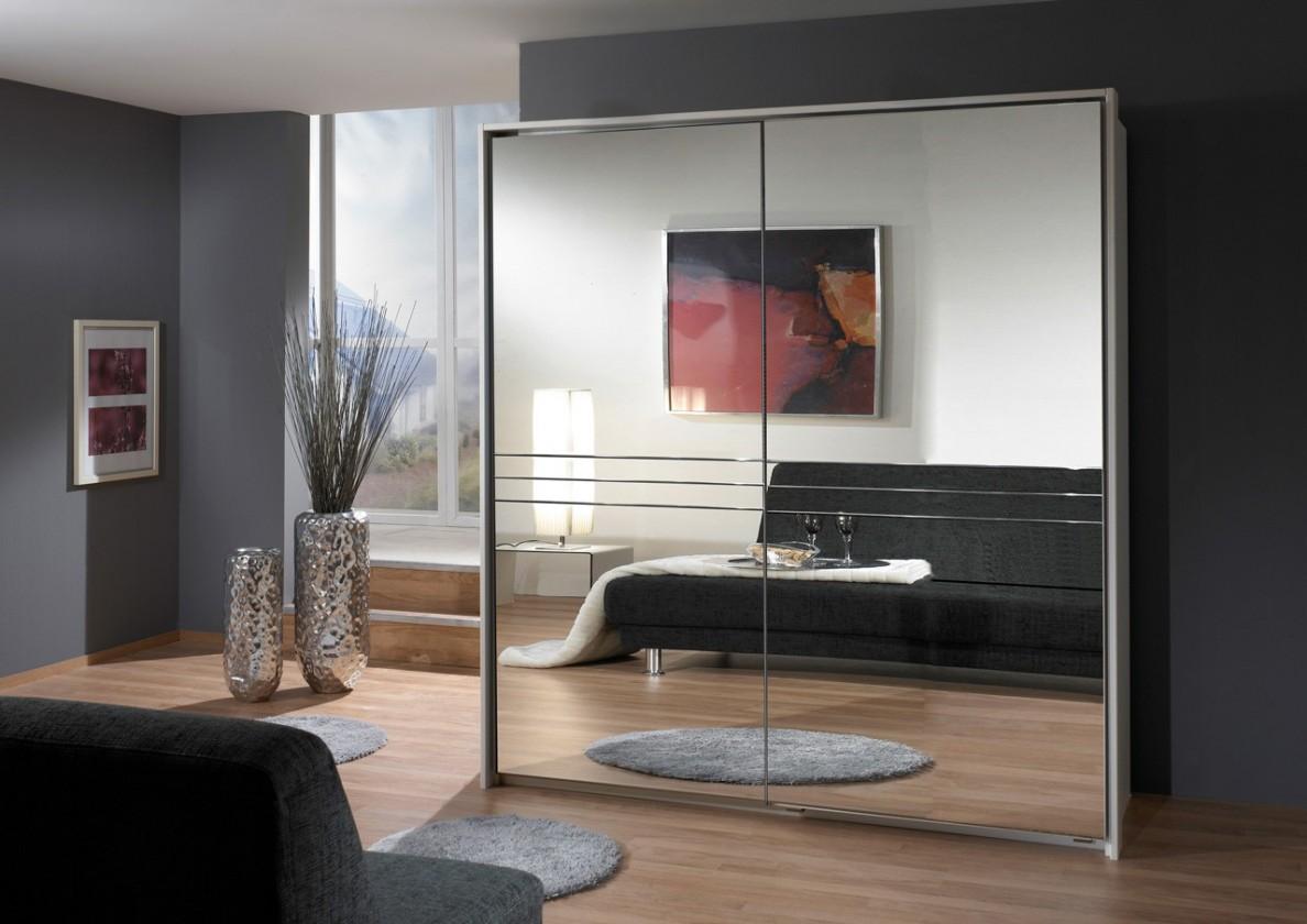 Posuvná Šatní skříň Medina  2 - 2x posuvné dveře (alpská bílá)