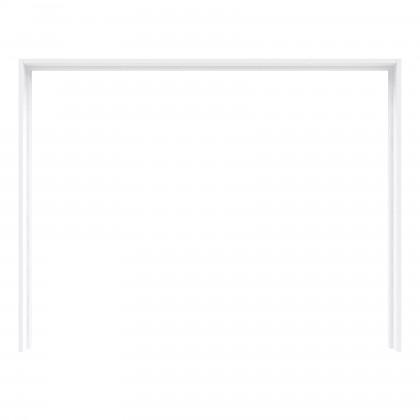 Posuvná Šatní skříň Starlet Plus - Rám skříně s osvětlením (bílá lesk)