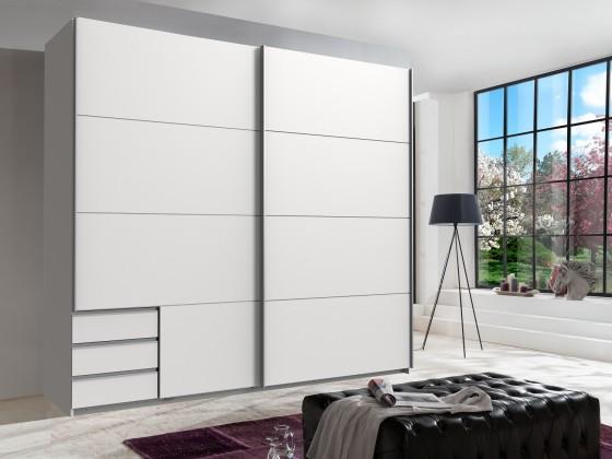Posuvná Skříň Seattle - 225/208/64 cm, posuvné dveře (bílá)
