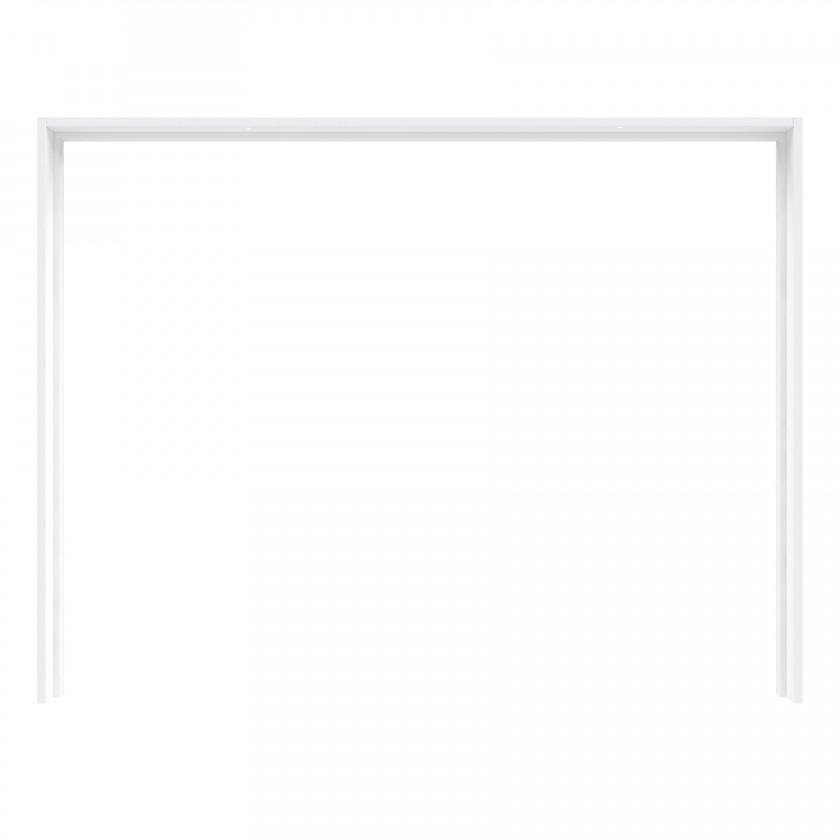 Posuvná Starlet Plus - Rám skříně s osvětlením (bílá lesk)