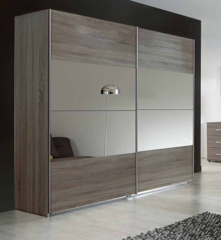 Posuvná Vicenza - Šatní skříň 2, 2x posuvné dveře (dub montana)