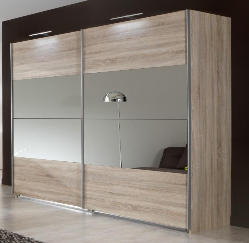 Posuvná Vicenza - Šatní skříň 2, 2x posuvné dveře (dub)