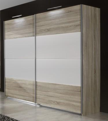 Posuvná Vicenza - Šatní skříň 3, 2x posuvné dveře (dub/alpská bílá)