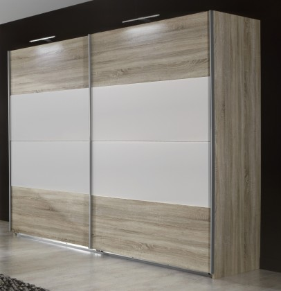 Posuvná Vicenza - Šatní skříň 5, 2x posuvné dveře (dub/alpská bílá)