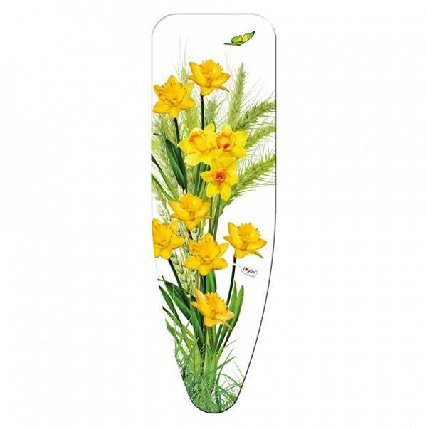 Potah na žehlící prkno, 125x40 cm (motiv Narcis)