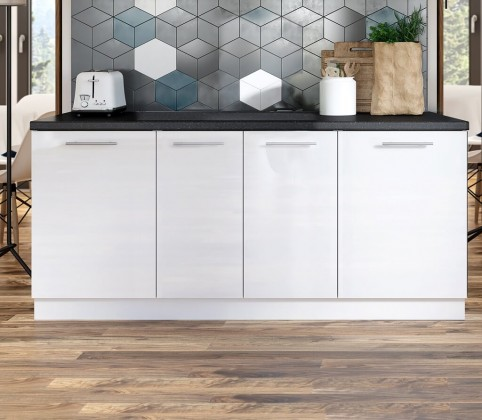 Potravinové skříně a ostrůvky Kuchyňská protilinka Emilia 200 cm (bílá)