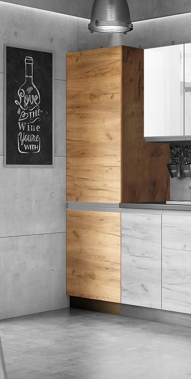 Potravinové skříně a ostrůvky Potravinová skříň ke kuchyni Brick light