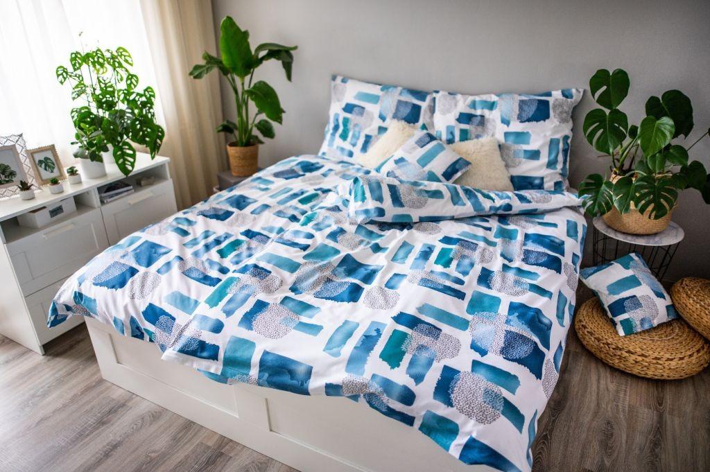 Povlečení Ložní povlečení Abstract blue (modrá, bílá)