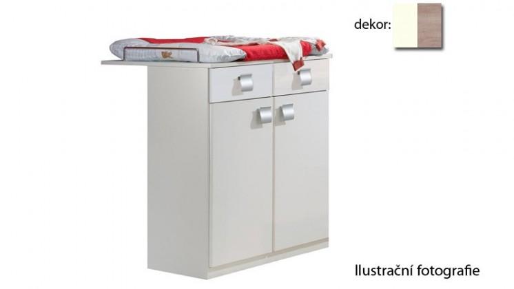 Přebalovací pult Jette - 321221 (alpská bílá / dub řezaný)