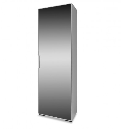 Předsíňová skřín Rhein - Skříň se zrcadlem, 1x dveře (bílá)
