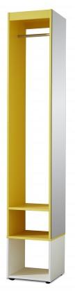 Předsíňová skřín Sonia - šatní skříň (bílá/žlutá)