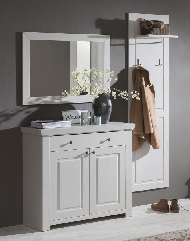 Předsíňová stěna Domi - Kombi 59, zrcadlo, komoda 1 zásuvka, 2 dveře, šatní panel