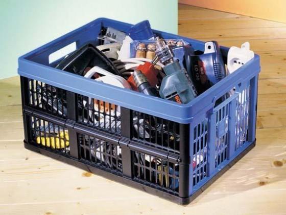 Prepravka skládací,plast (modrá)