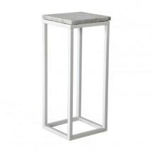 Přístavný stolek Accent - čtverec, nižší (mramor, bílá)