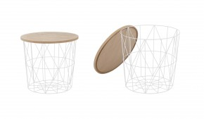 Přístavný stolek Mariffa (bílá/hnědá)