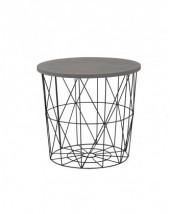 Přístavný stolek Mariffa (černá/šedá) - II. jakost