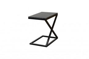 Přístavný stolek ST202009 mramor uhelný / černá