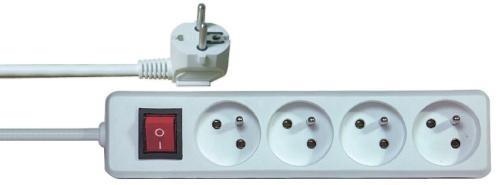 Prodlužovací kabel 4 zásuvky 5m + vypínač ActiveJet P1415