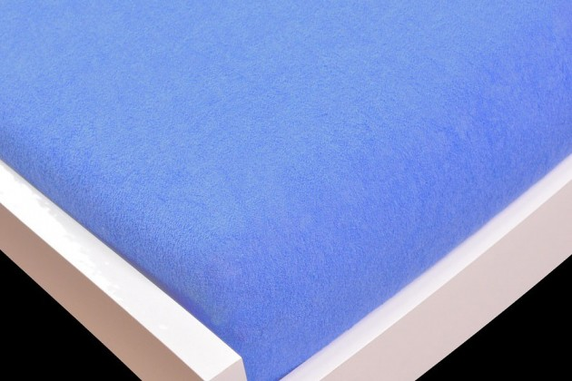 Prostěradlo Froté, 180x200 (světle modré)