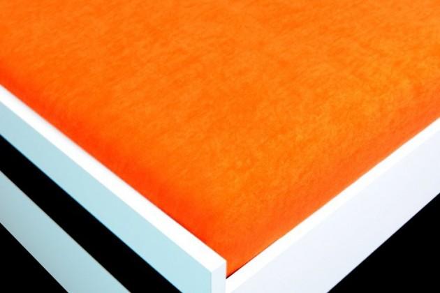 Prostěradlo Froté, 60x120 (oranžové)