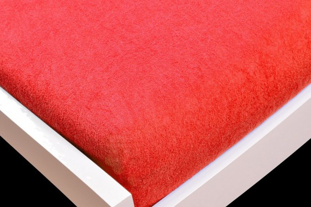 Prostěradlo Froté, 90x200 (červené)