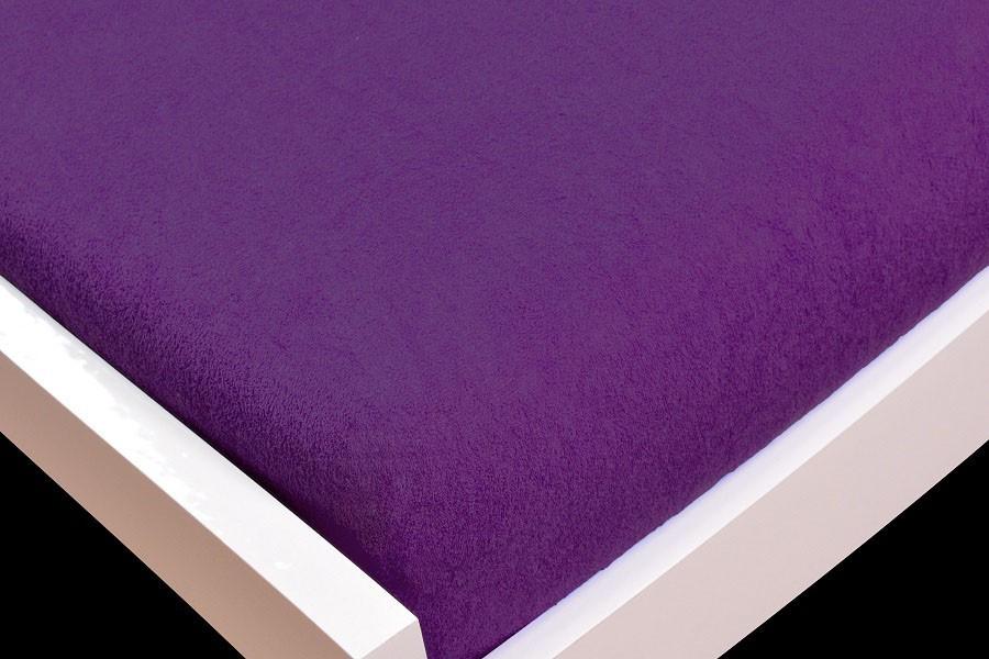 Prostěradlo Froté, 90x200 (fialové)