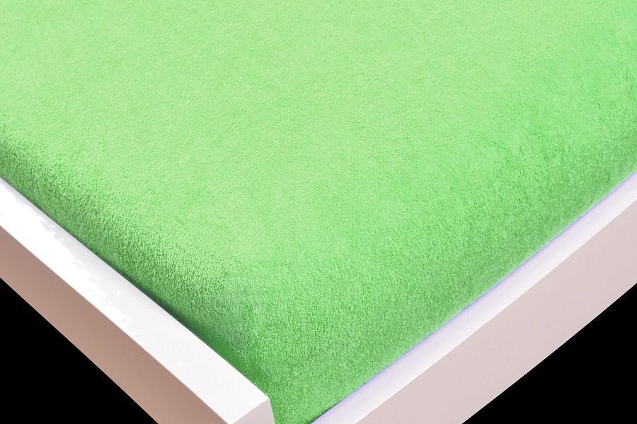 Prostěradlo Froté, 90x200 (zelené)