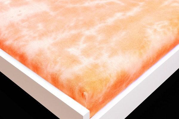 Prostěradlo Froté, batika, 90x200 (oranžové)