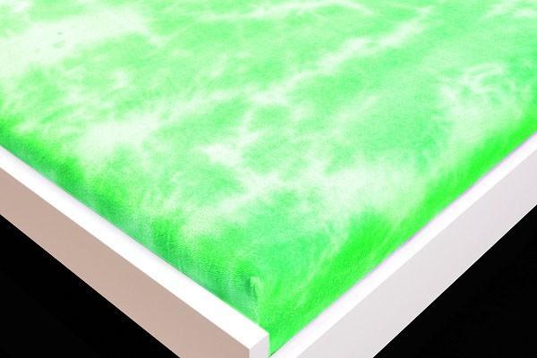 Prostěradlo Froté, batika, 90x200 (zelené)