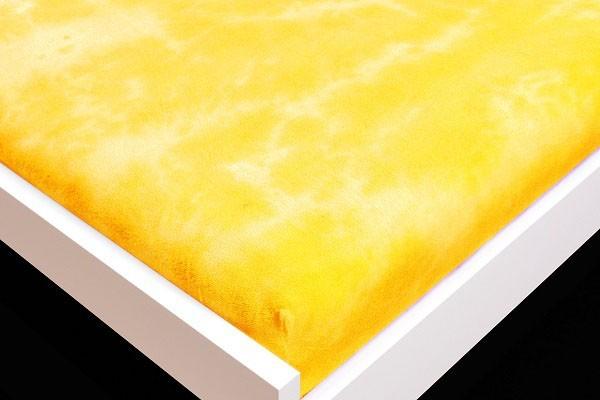 Prostěradlo Froté, batika, 90x200 (žluté)