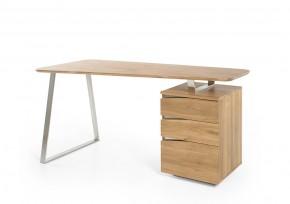 Psací stůl Gaut (dub, stříbrná)