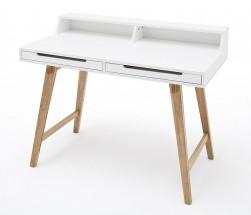 Psací stůl Rolef (bílá, buk)